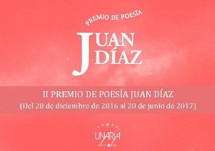 """II PREMIO DE POESÍA """"JUAN DÍAZ"""""""